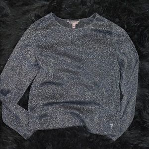 Cheer black glittery long sleeve
